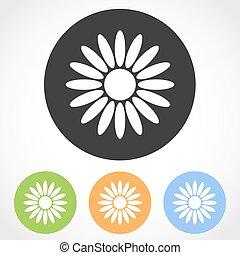 Flat flower icons - vector illustration.