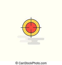 Flat Focus Icon. Vector