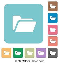 Flat folder open icons