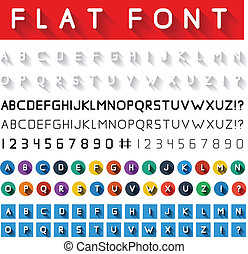 Flat font