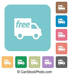 Flat free shipping icons