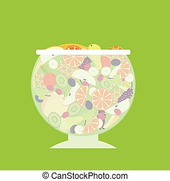 Flat Fruit Salad Template