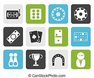 Flat gambling and casino Icons
