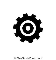 Flat Gear Wheel Icon
