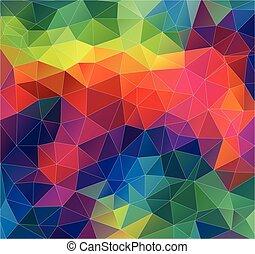 Flat Geometric Triangle Wallpaper Pattern