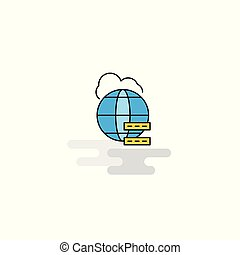 Flat Globe Icon. Vector