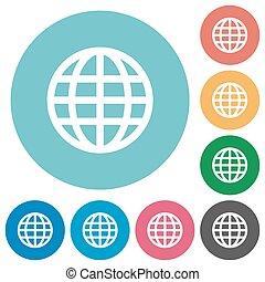 Flat globe icons