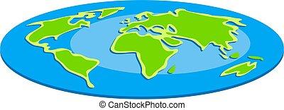 Flat Globe - the world is flat