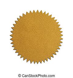 Flat Gold Seal