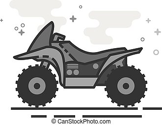 Flat Grayscale Icon - All terrain vehicle