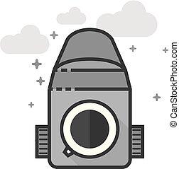 Flat Grayscale Icon - Camera