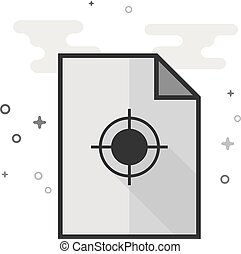 Flat Grayscale Icon - Printing quality control