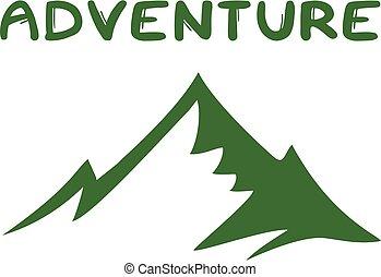 flat green adventure icon design