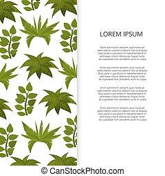Flat green plants banner design