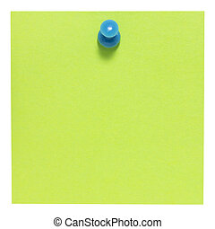 Flat green square sticky note