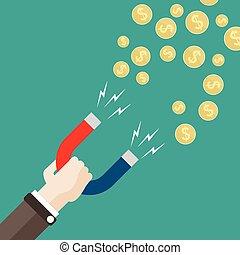 Flat Hand Magnet Money Dollar
