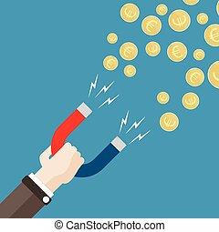 Flat Hand Magnet Money Euro