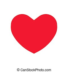 flat heart vector icon sign symbol