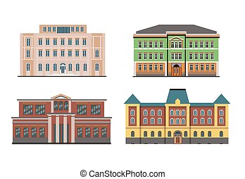 Flat Historical Buildings
