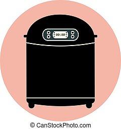 Flat home bread maker machine, kitchen appliance