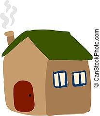 Flat home, illustration, vector on white background.