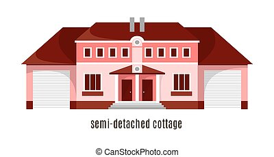 Flat house icon isolated on white background.