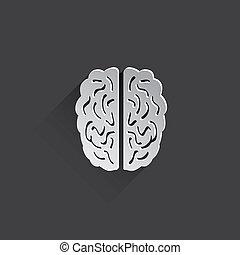 flat human brain icon.