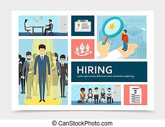 Flat Human Resource Recruitment Composition