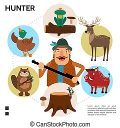 Flat Hunting Round Concept - Flat hunting round concept with...