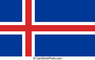 flat icelandic flag