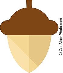 Flat icon - Acorn seed