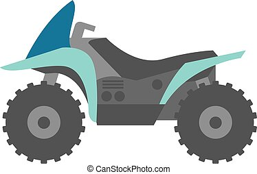 Flat icon - All terrain vehicle