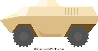 Flat icon - Armored vehicle