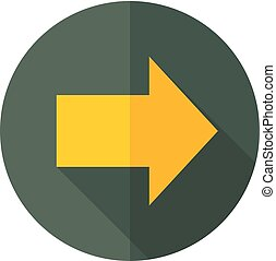 Flat icon - Arrow