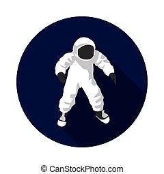 flat icon astronaut