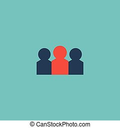Flat Icon Audience Element. Vector Illustration Of Flat Icon Auditorium Isolated On Clean Background. Can Be Used As Auditorium, Audience And People Symbols.