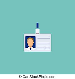 Flat Icon Badge Element. Vector Illustration Of Flat Icon Id Card Isolated On Clean Background. Can Be Used As Badge, Id And Card Symbols.