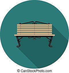 flat icon bench