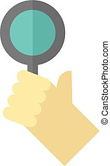 Flat icon - Bidder hand - Bidder hand icon in flat color...
