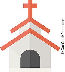 Flat icon - Church - Church icons in flat color style....