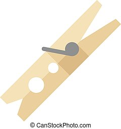 Flat icon - Clothes peg