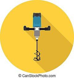 flat icon construction mixer