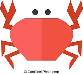 Flat icon - Crab