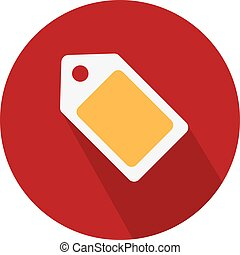 Flat Icon Design. vector label tag symbol. discount element, coupon sign