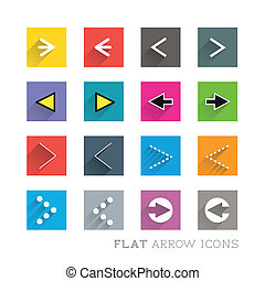 Flat Icon Designs - Arrows. Layed vector illustration.