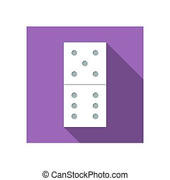 Flat icon domino with long shadow