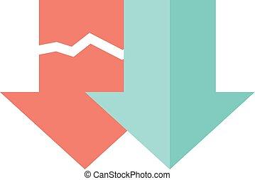 Flat icon - Download arrow