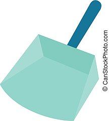Flat icon - Dustpan - Dustpan icon in flat color style....