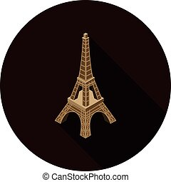 flat icon Eiffel tower isometric in vector format