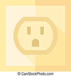 Flat icon - Electrical outlet